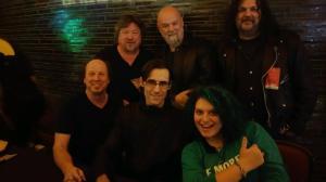(Top) Danny Zelisko, Andy West, Michael Nitro (Bottom) Adrian Belew and his band Eric Slick, Julie Slick.